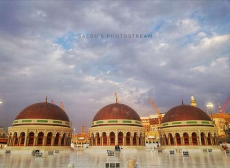 مسجد الحرام کی چھت پر سیکیورٹی باڑ کی تنصیب مکمل