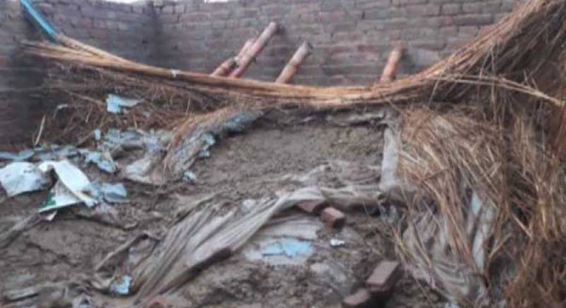 کوٹ عبدالمالک، بارش کے باعث گھر کی چھت گر گئی، 7 افراد جاں بحق