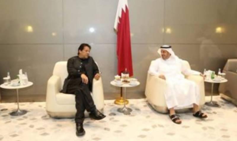 وزیراعظم کی قطری ہم منصب سے ملاقات, باہمی دلچسپی کے امور پر تبادلہ خیال