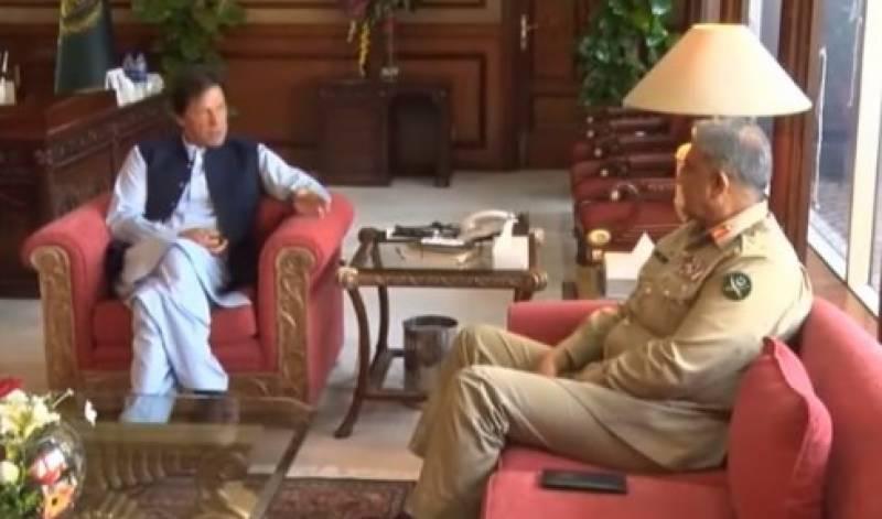 عمران خان , آرمی چیف سے افغان طالبان کے وفد کی ملاقات
