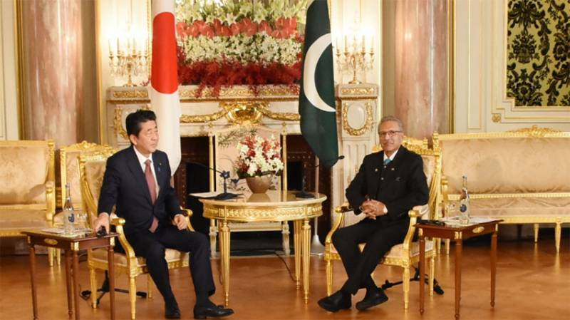 صدر مملکت کی جاپان کے وزیراعظم سے ملاقات، کشمیر سمیت اہم امور پر تبادلہ خیال