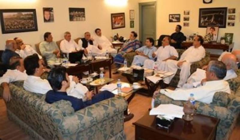 تحریک انصاف کور کمیٹی اجلاس ,اپوزیشن کا وزیراعظم کے استعفے اور نئے انتخابات کا مطالبہ مسترد