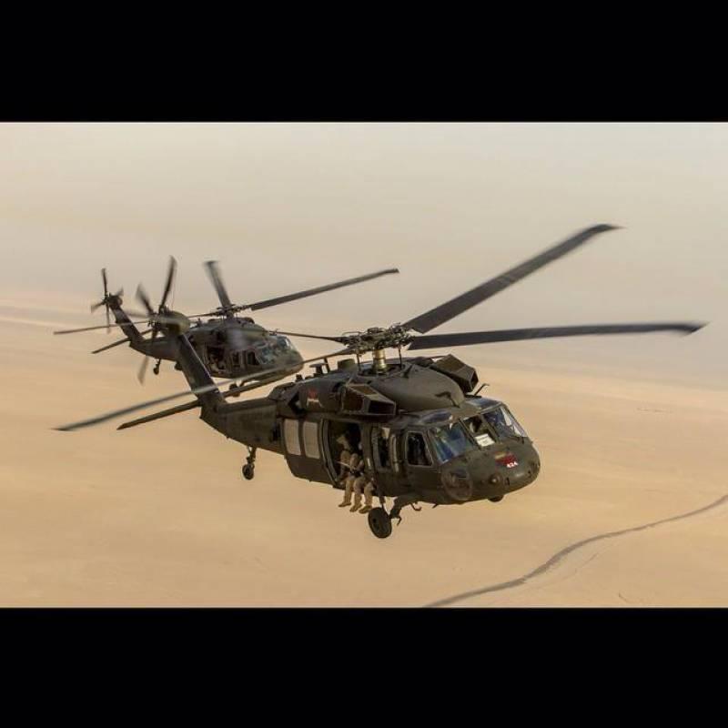 امریکہ کا بلیک ہاک ہیلی کاپٹر گرگیا،3 فوجی ہلاک