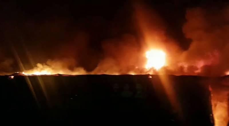 گوجرانوالہ، لنڈا بازار میں آتشزدگی، کروڑوں کا نقصان