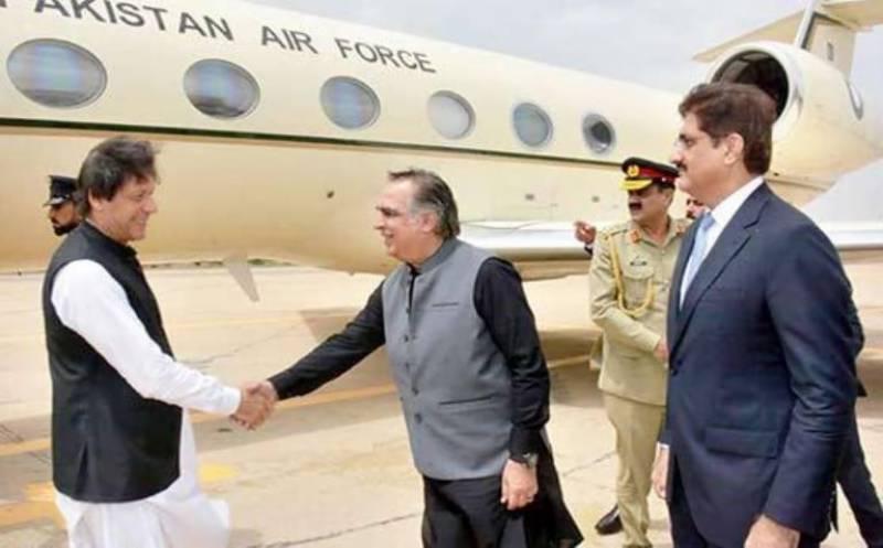 وزیراعظم کراچی پہنچ گئے، گورنر اور وزیراعلیٰ سندھ کیجانب سے شاندار استقبال