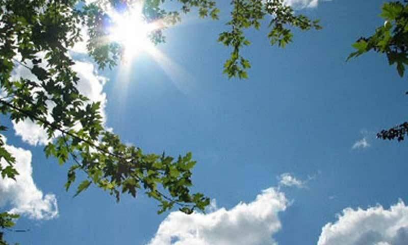 بیشتر علاقوں میں آج موسم خشک اور گرم رہے گا