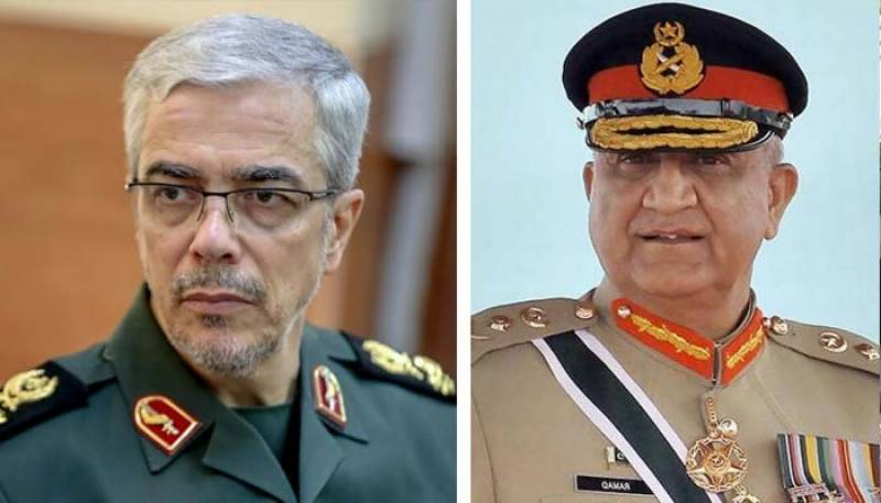 آرمی چیف کا ایرانی فوج کے سربراہ سے ٹیلی فونک رابطہ