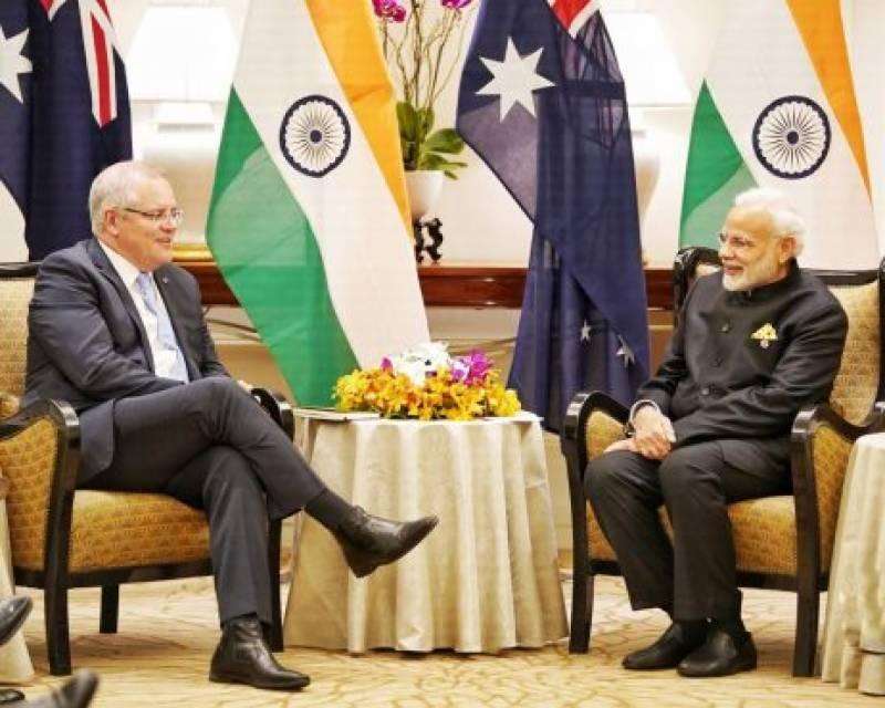 بھارت اور آسٹریلیا کے درمیان فوجی اڈے استعمال کرنے کا معاہدہ