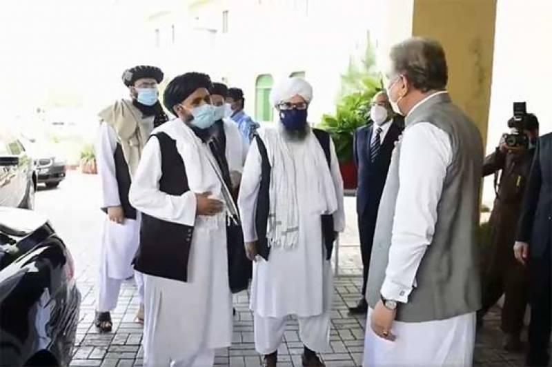 ملا برادر کی سربراہی میں افغان طالبان کے وفد کی شاہ محمود سے ملاقات