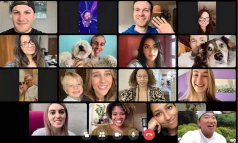 فیس بک میسنجر پر ایک ساتھ50 لوگوں کو ویڈیو کالنگ کی سہولت