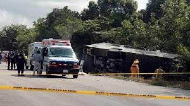 میکسیکو، مسافر بس چٹان سے ٹکرا گئی، 13 افراد ہلاک، 21زخمی