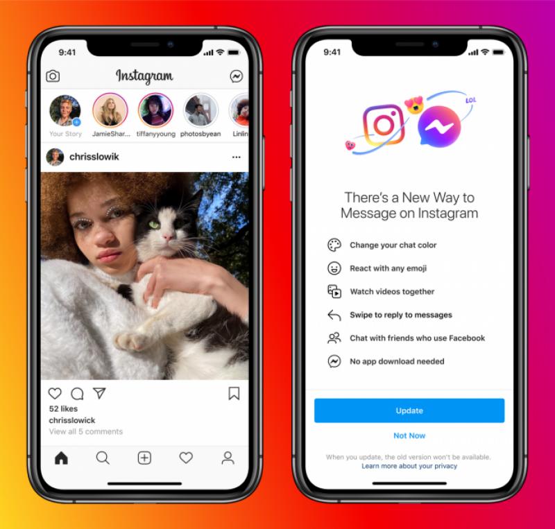 فیس بک نے واٹس ایپ ، میسنجر اور انسٹاگرام کو باہم جوڑنے کا فیچر متعارف کروا دیا