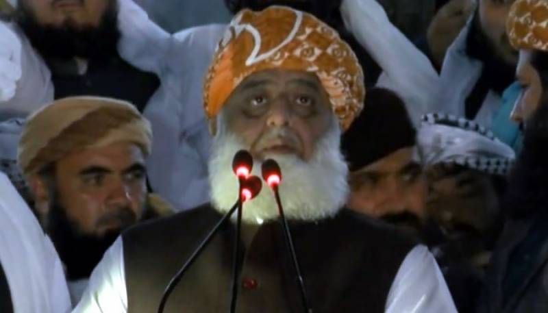 Maulana Fazal ur Rehman in Quetta Jalsa