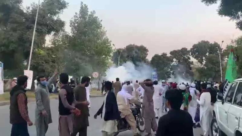 islamabad protest, police, pakistan