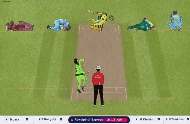 Portrait of batsmen injured on Shoaib Akhtar's ball goes viral