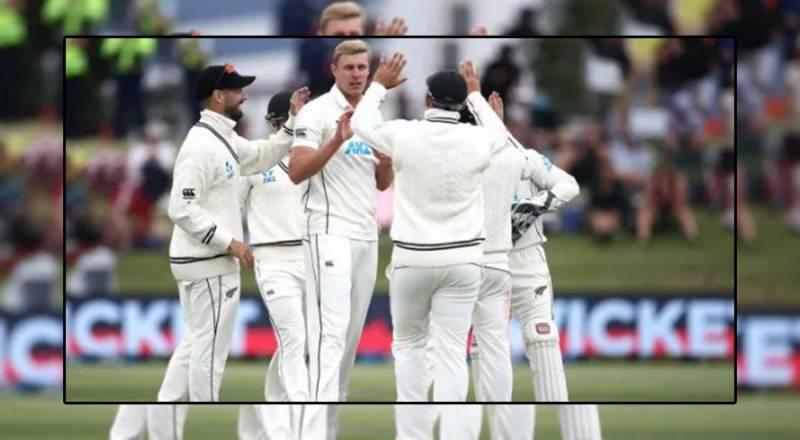 ماؤنٹ منگوئی ٹیسٹ میں نیوزی لینڈ کے خلاف پاکستانی ٹیم 239 رنزپرآؤٹ ہوگئی