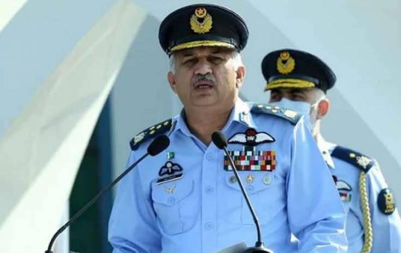 اسلام آباد، بھارت پاکستان کے قیام امن کی کوششوں کو نظرانداز کررہا ہے، سربراہ پاک فضائیہ