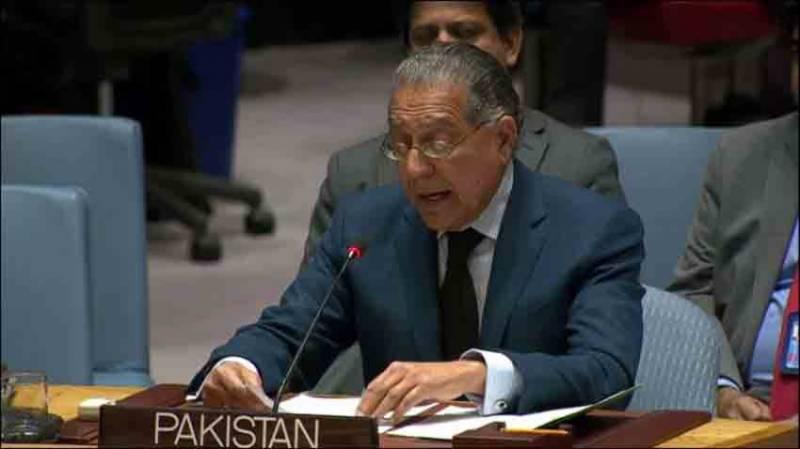 مسئلہ کشمیر کا حل اقوام متحدہ کی قراردادوں میں مضمر ہے، منیر اکرم