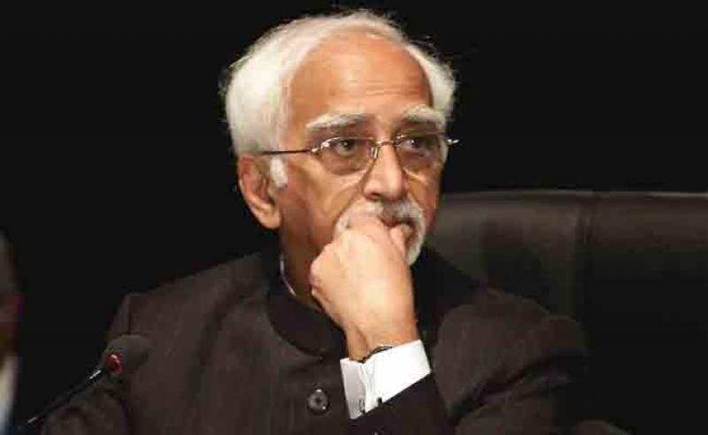 مسلمانوں کی جان و مال ہندوستان میں محفوظ نہیں، حامد انصاری
