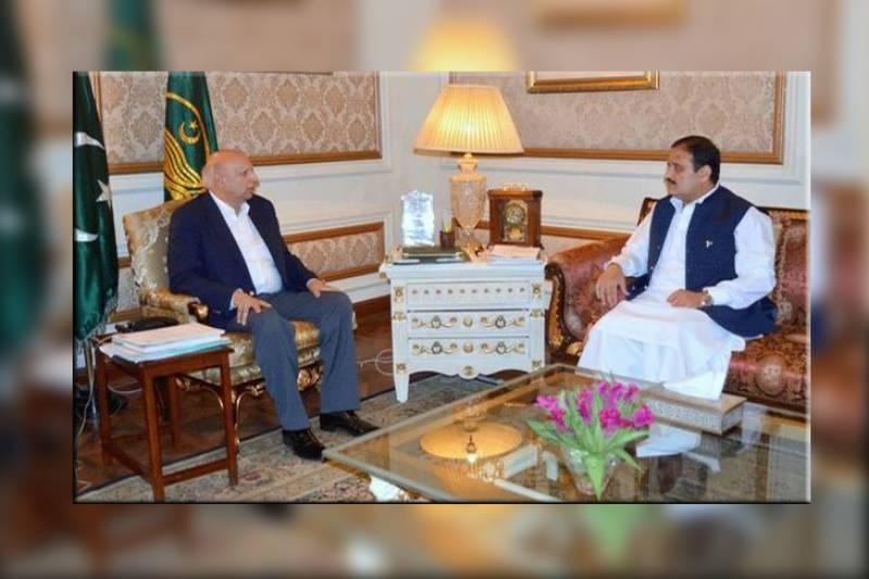 سینیٹ انتخابات،گورنر چودھری سرور اور وزیر اعلیٰ پنجاب عثمان کی ملاقات