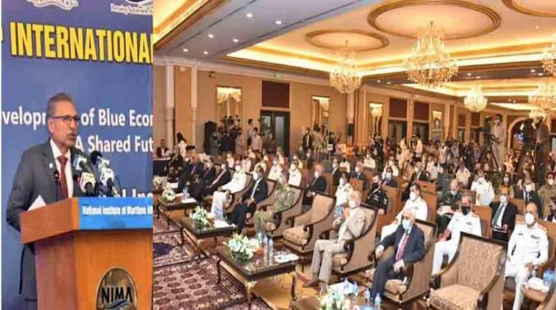 پاکستان غذائی تحفظ پر توجہ دیتے ہوئے پائیدار بلیو اکانومی کی جانب گامزن ہے، صدر مملکت