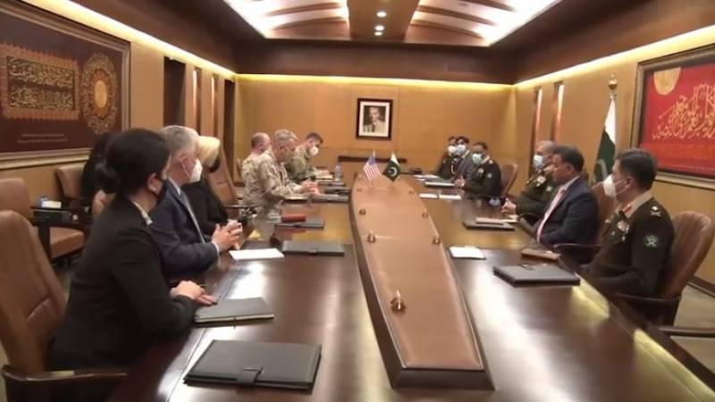 آرمی چیف سے امریکی کمانڈر کی ملاقات،علاقائی سکیورٹی صورتحال پر تبادلہ خیال