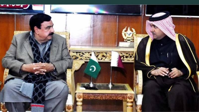 قطری نمائندہ خصوصی کی وزیر داخلہ شیخ رشید کی ملاقات