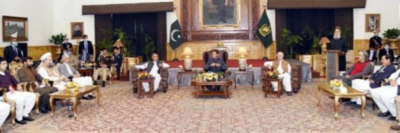 وزیراعظم عمران خان کی خیبر پختونخواہ کے قومی وصوبائی اراکین اسمبلی سے ملاقاتیں