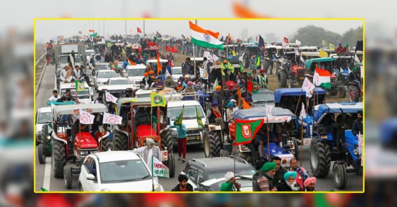 کسانوں نے بھارتی پارلیمنٹ کے باہر 40 لاکھ ٹریکٹرز لانے کا اعلان کر دیا