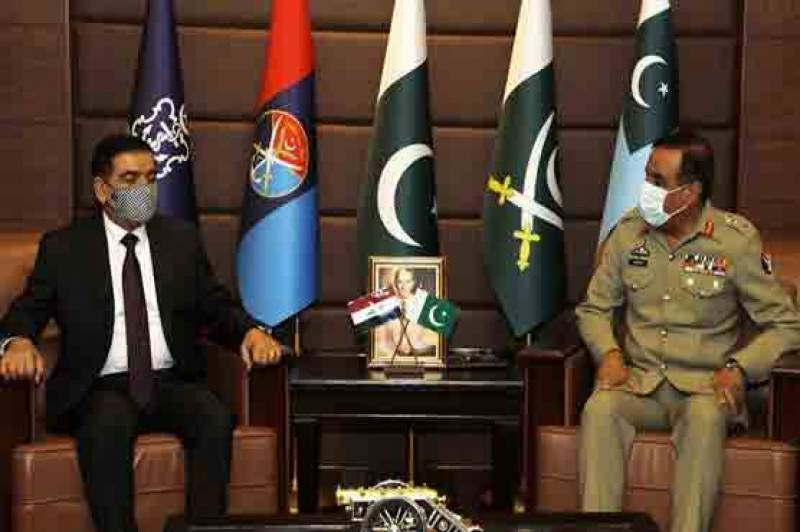 چیئرمین جوائنٹ چیفس آف سٹاف کمیٹی سے عراقی وزیر دفاع کی ملاقات، اہم امور پر تبادلہ خیال