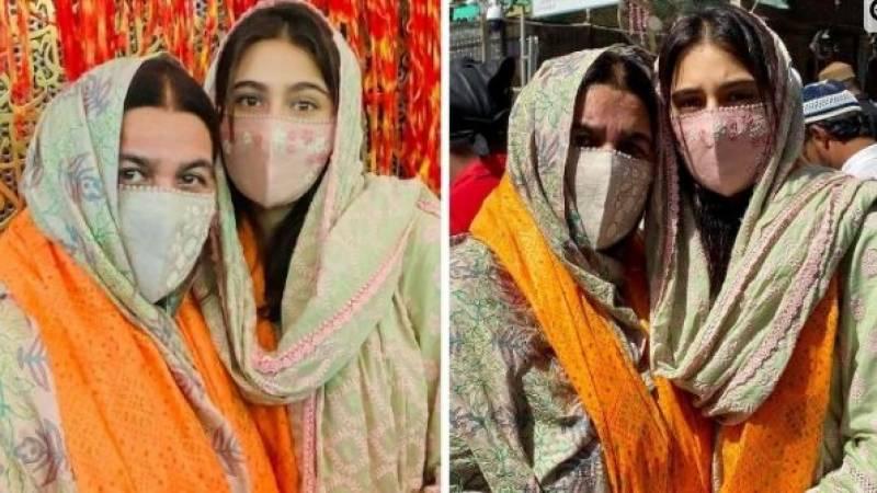 سارہ علی خان کی والدہ کے ساتھ خواجہ معین الدین چشتی کے مزار پر حاضری