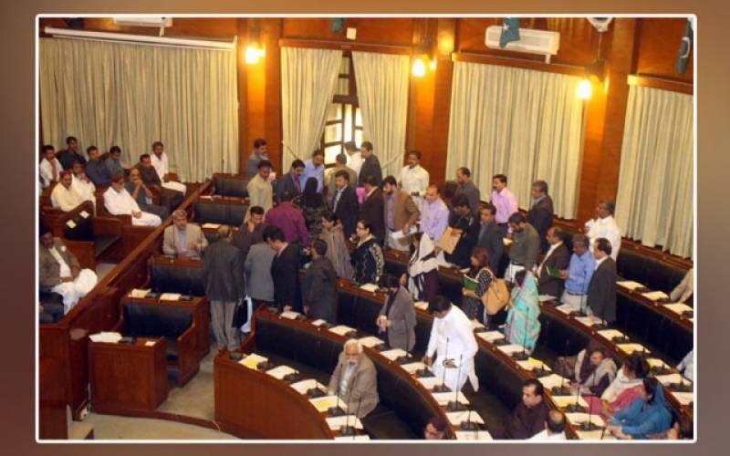سندھ اسمبلی میں پیپلز پارٹی اور پی ٹی آئی کے ارکان آپس میں گتھم گتھا