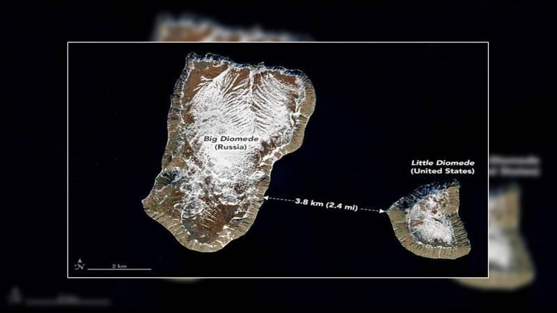 دو جزیروں میں صرف3.8 کلومیٹر کی دوری ، مگر 20 گھنٹے کا فرق