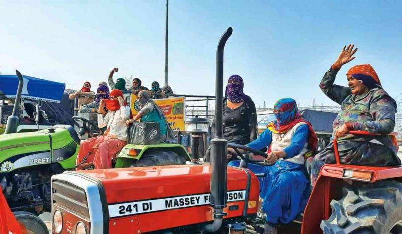 خواتین کا عالمی دن ،احتجاج کیلئے 40ہزار سے زائد بھارتی کسان خواتین گھروں سے نکل پڑیں