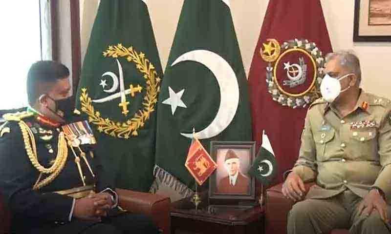 آرمی چیف سے سری لنکن فوج کے کمانڈر کی ملاقات، اہم امور پر تبادلہ خیال