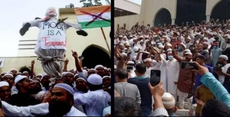 بھارتی وزیراعظم مودی کی بنگلہ دیش آمد ، عوام سراپا احتجاج بن گئے
