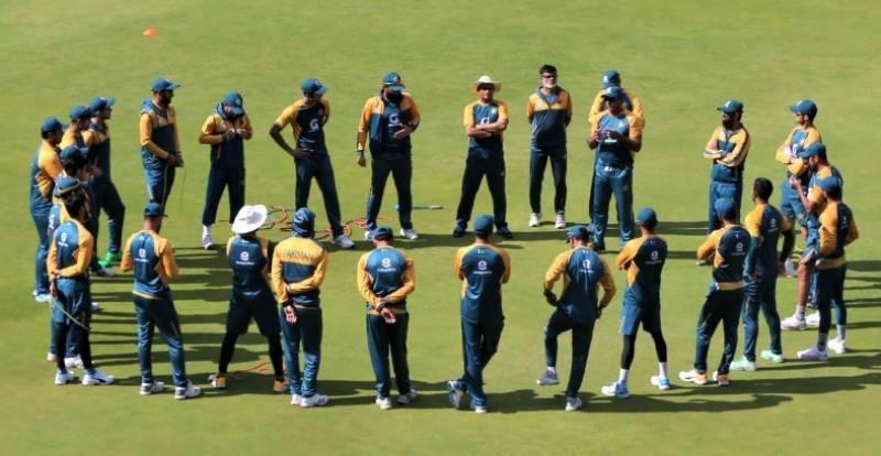 جنوبی افریقا میں کرکٹ ٹیم کی پریکٹس جاری