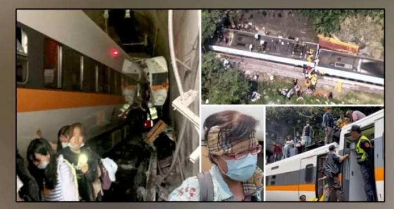 تائیوان میں ٹرین حادثہ، 43 مسافر ہلاک، درجنوں زخمی، ہسپتالوں میں ہنگامی حالت نافذ