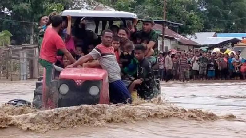 انڈونیشیا اور مشرقی تیمور میں سیلاب سے اموات 160 ہوگئیں