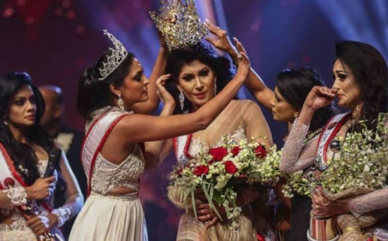 مس سری لنکا 2021 سے سٹیج پر ہی تاج چھین لیا گیا