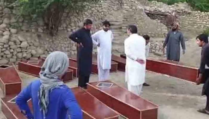 درہ آدم خیل میں اجتماعی قبر سے 16 لاشیں برآمد