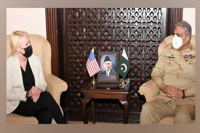 آرمی چیف سے امریکی ناظم الامور کی ملاقات، اہم امور پر تبادلہ خیال
