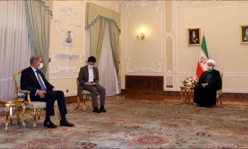 شاہ محمود قریشی کی ایرانی صدر سے ملاقات، تعلقات مستحکم کرنے کے عزم کا اعادہ