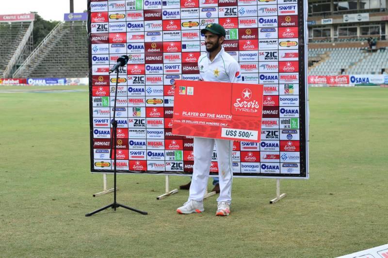 ہرارے ٹیسٹ میں ٹیم کو فتح دلانے پر حسن علی خوش