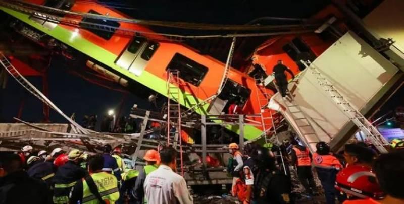 میٹروٹرین اسٹیشن کی بالائی گزرگاہ گرنے سے حادثہ،15 افراد ہلاک 70 زخمی ہوگئے