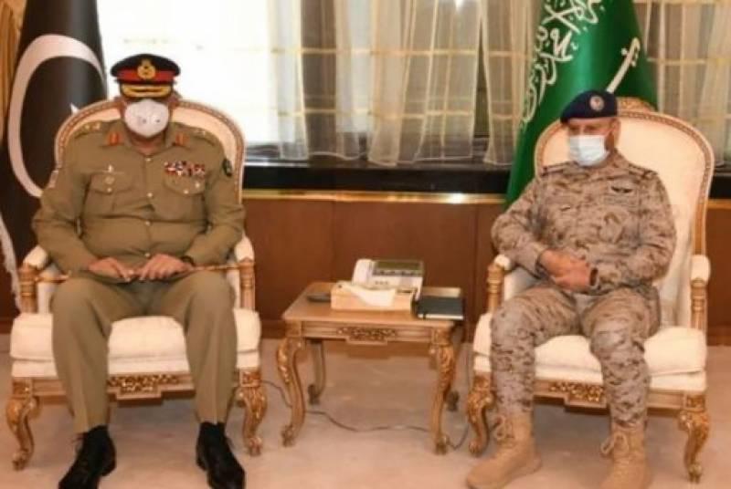 آرمی چیف جنرل قمر جاوید باجوہ کی ریاض میں سعودی آرمڈفورسزکے چیف آف جنرل سٹاف سے ملاقات