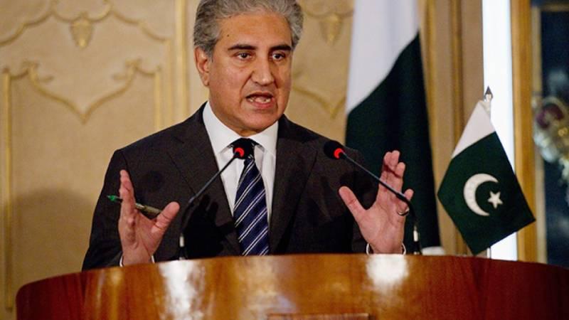 پاکستان مذاکرات کیلئے تیار ہے، بھارت سازگار ماحول بنائے: وزیر خارجہ شاہ محمود قریشی