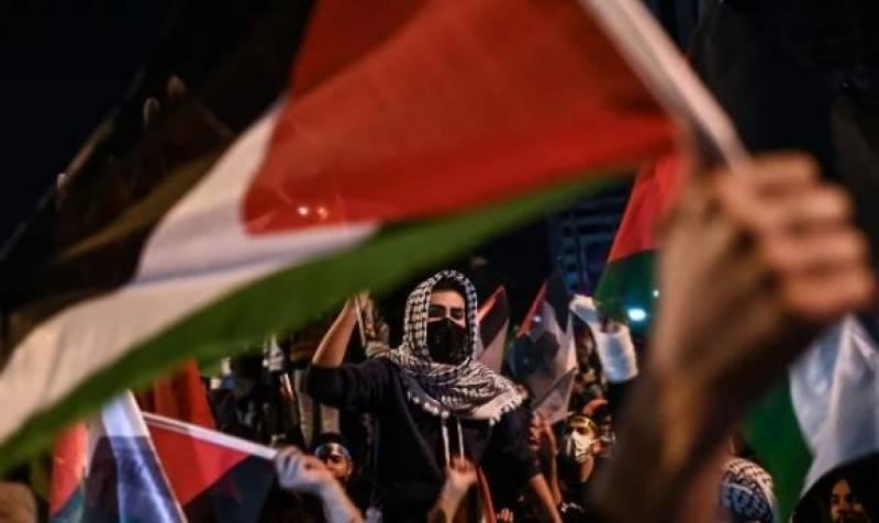 فلسطین پر اسرائیلیوں کے حملے پر دنیا بھر میں احتجاجی مظاہرے