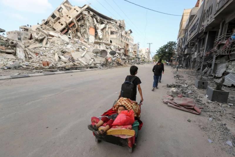 غزہ: نہتے فلسطینیوں پر اسرائیلی فضائی حملے جاری، شہادتوں کی مجموعی تعداد 137 ہو گئی