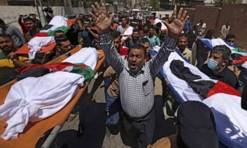 اسرائیلی بمباری میں ایک ہی خاندان کے 10 افراد شہید، مجموعی تعداد 140 ہو گئی، 36 بچے بھی شامل